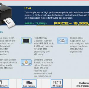 LP 44 TVS Barcode Printer - Placewell Retail