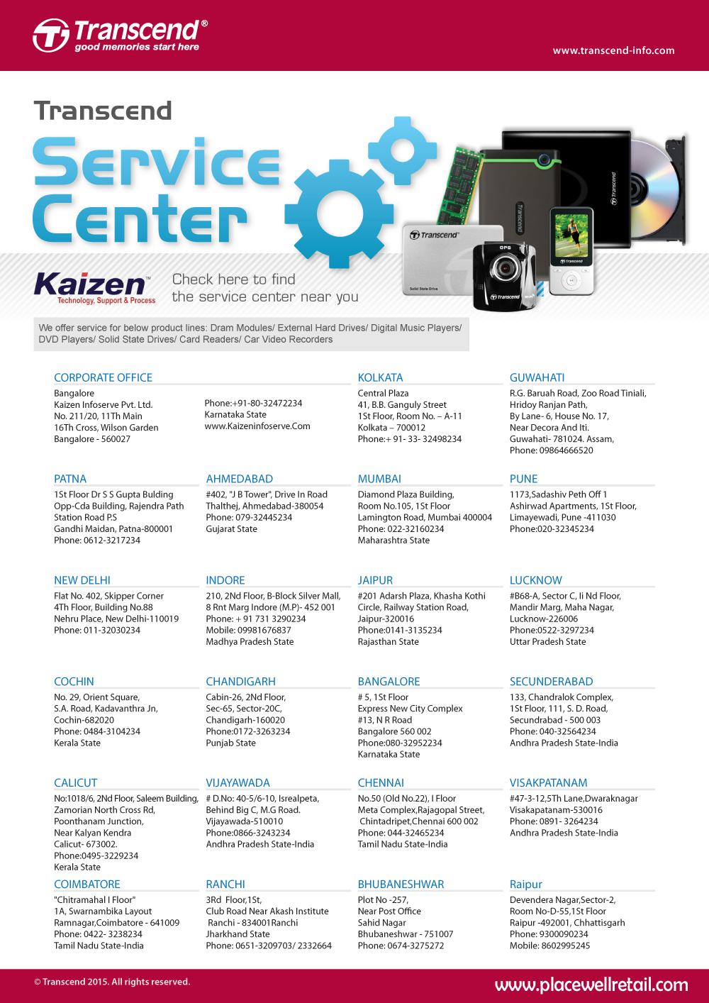 Transcend Service Centre