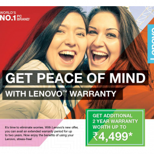 Lenovo Peace of Mind Offer - Placewell Retail