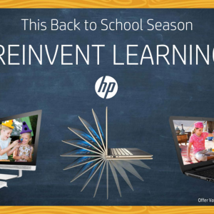 Reinvent Learning : HP Laptop Offer 2017